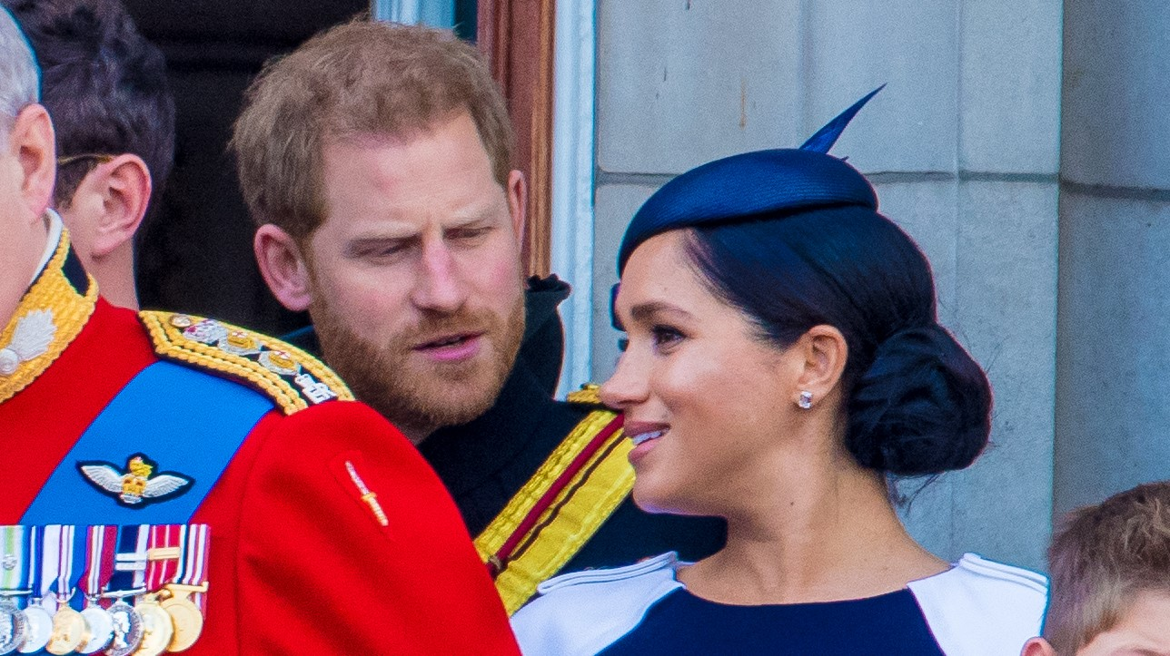 Prince Harry caught on camera 'telling off wife Meghan'