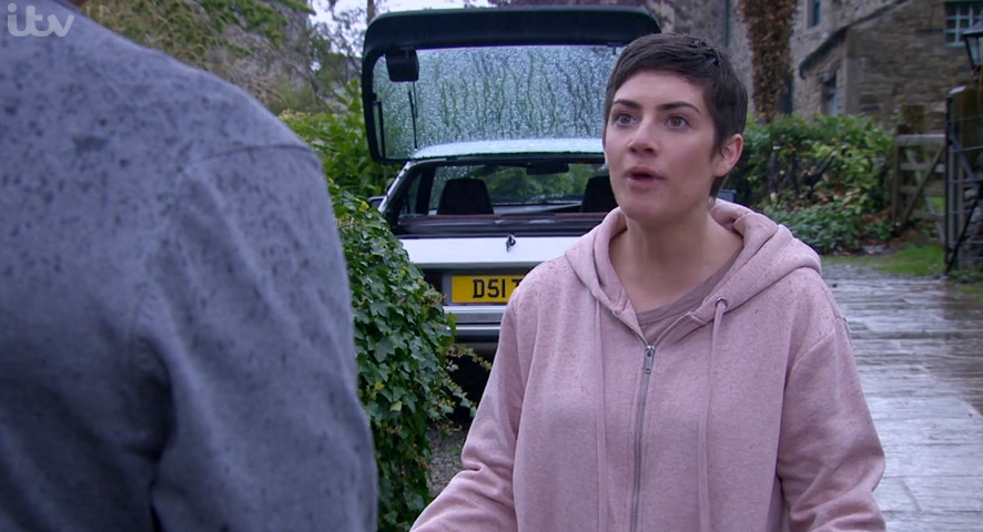 Emmerdale Victoria angry Credit: ITV