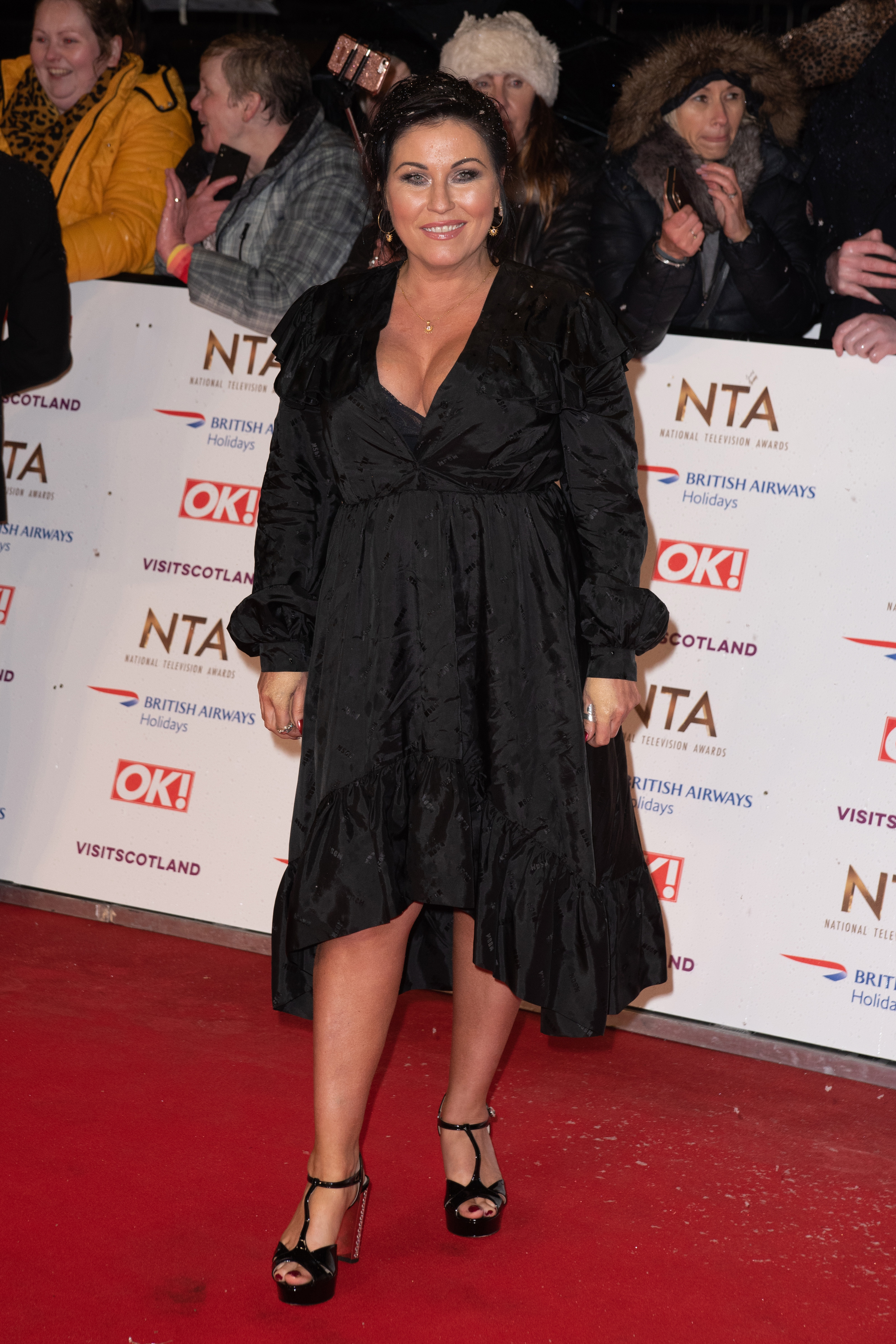 Jessie hit the red carpet in January at the NTAs (Credit: SplashNews.com)