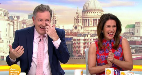 Piers Morgan left red-faced over Good Morning Britain 'tick'