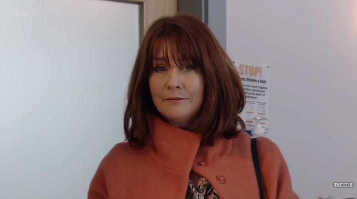 Susan Cookson as Marion Logan Corrie Credit: ITV/YouTube