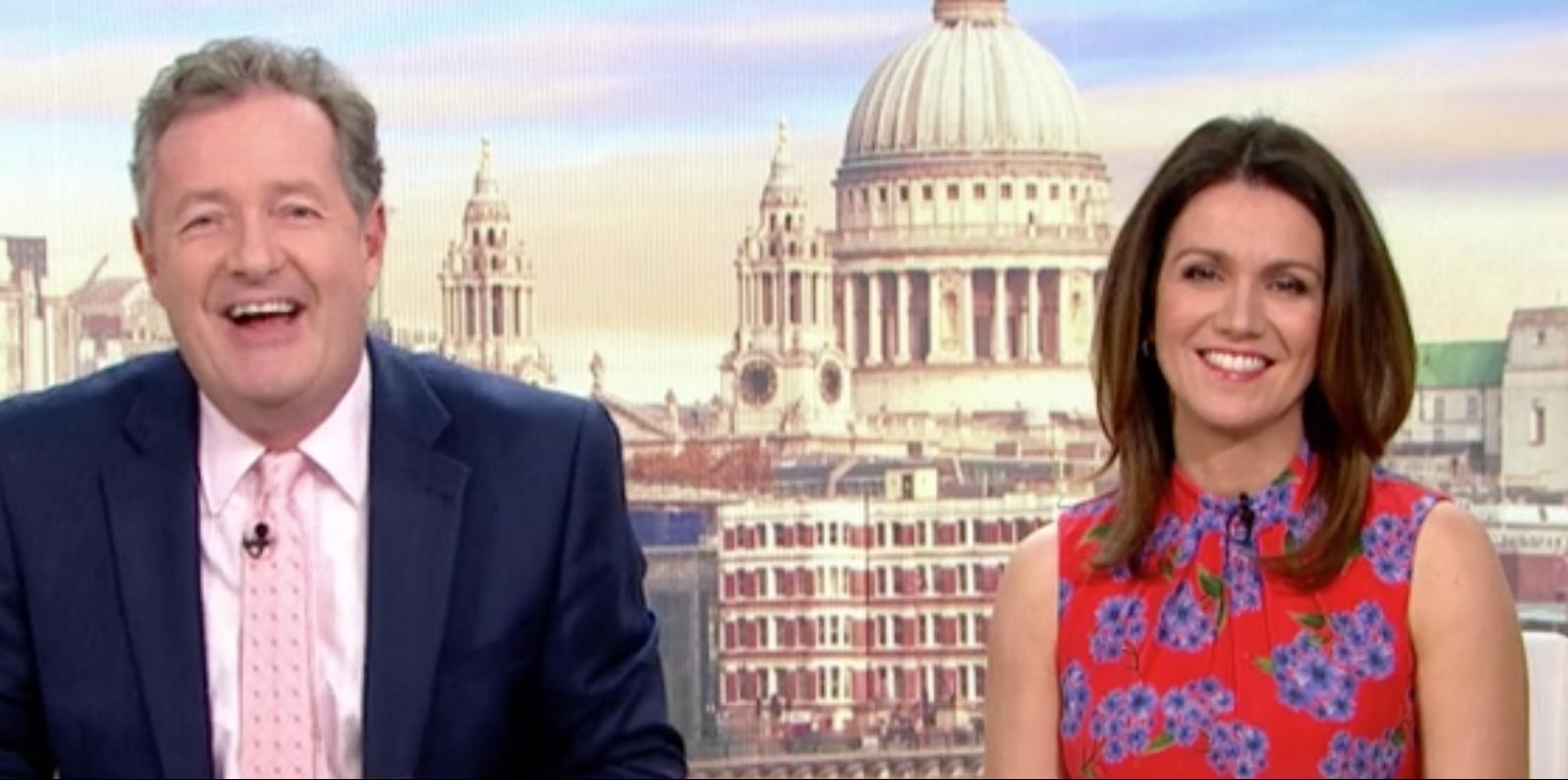 Cheeky Piers Morgan makes a saucy quip about Susanna Reid's sex life