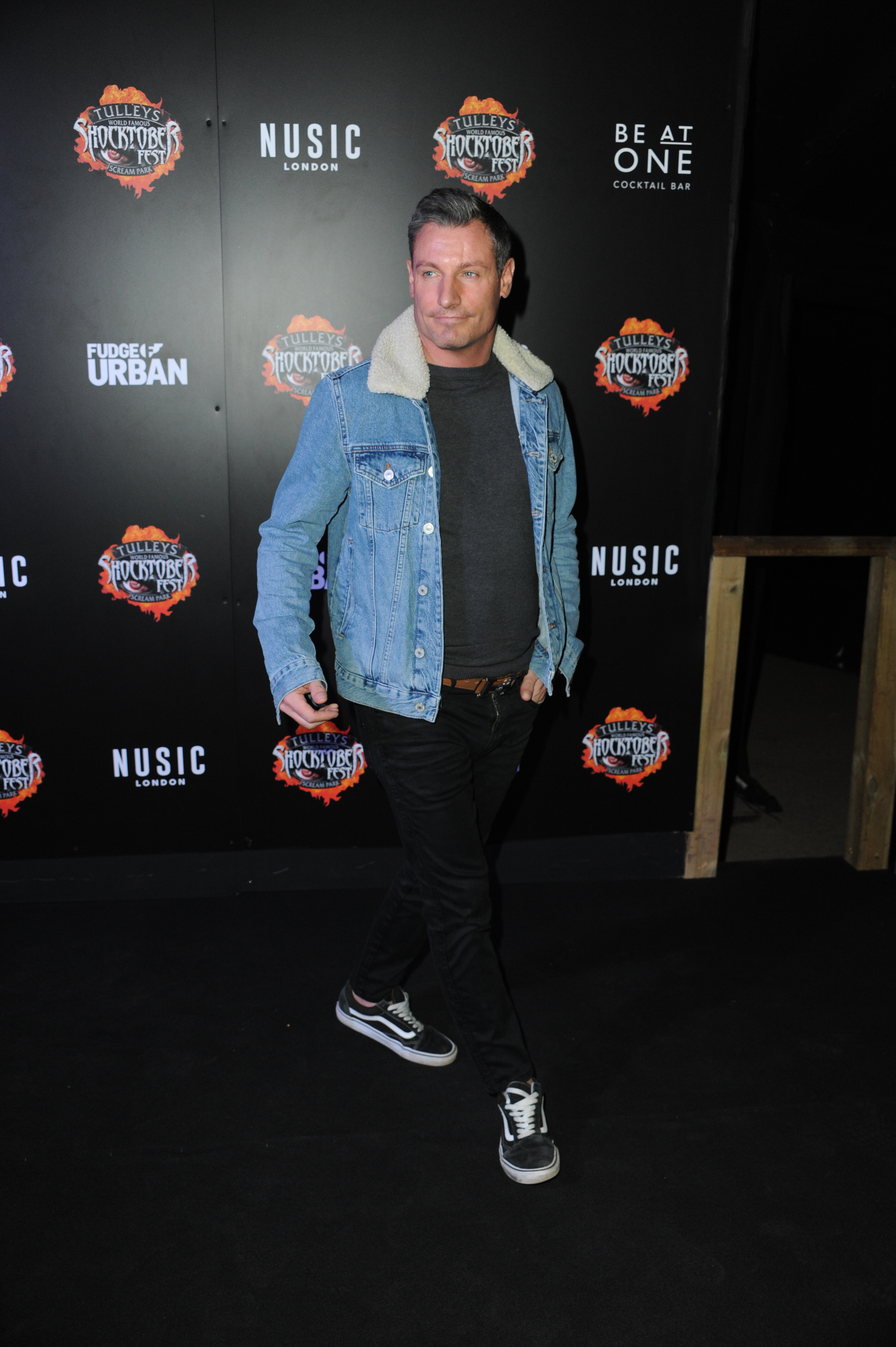 VIP night for Halloween scare park attraction at Tulleys Farm Crawley in London, UK. Pictured: Dean Gaffney Ref: SPL5031086 061018 NON-EXCLUSIVE Picture by: Terry Scott / SplashNews.com Splash News and Pictures Los Angeles: 310-821-2666 New York: 212-619-2666 London: 0207 644 7656 Milan: 02 4399 8577 photodesk@splashnews.com World Rights