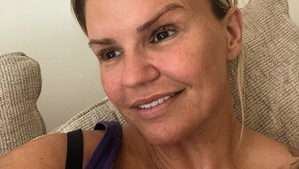 Kerry Katona reveals she's 'swollen' and 'in pain' after breast surgery