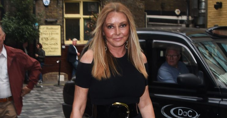 Celebrity arrivals at the Amazing Grace screening in London, England. Pictured: Carol Vorderman Ref: SPL5085267 020519 NON-EXCLUSIVE Picture by: Alucard / SplashNews.com Splash News and Pictures Los Angeles: 310-821-2666 New York: 212-619-2666 London: 0207 644 7656 Milan: 02 4399 8577 photodesk@splashnews.com World Rights