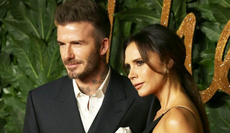 David Beckham pokes fun at wife Victoria's dress on boat trip