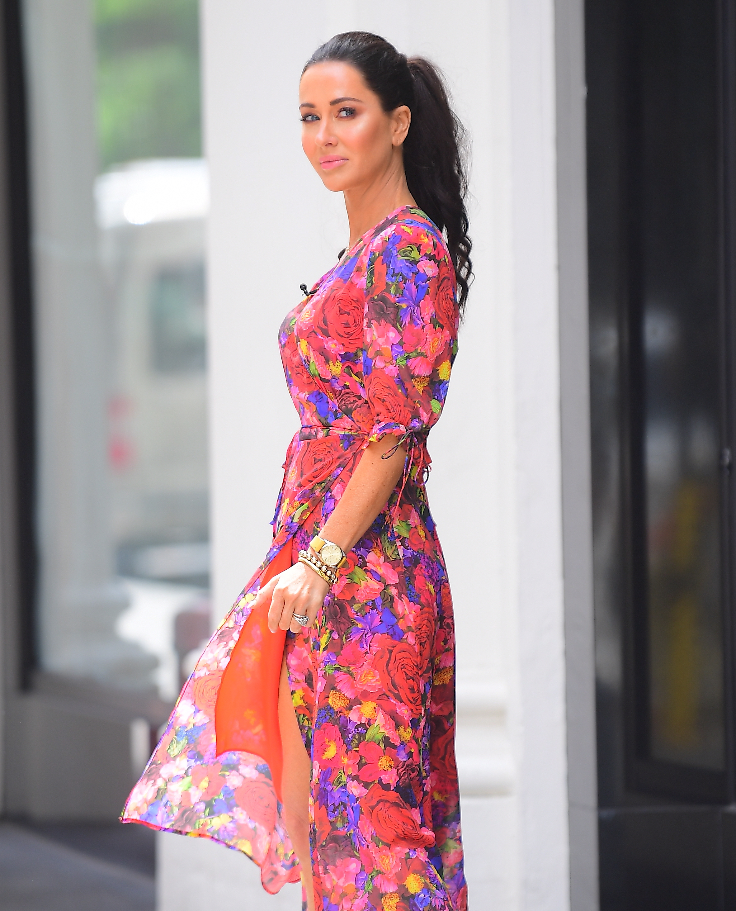 Jessica Mulroney was spotted out in NYC on Tuesday morning. Meghan Markle's stylist BFF filmed an interview of her own in Chelsea, looking amazing in a flowing Floral dress. Cameras surrounded her as she got her makeup touched up before filming the segment. Pictured: Jessica Mulroney Ref: SPL5097176 110619 NON-EXCLUSIVE Picture by: DIGGZY / SplashNews.com Splash News and Pictures Los Angeles: 310-821-2666 New York: 212-619-2666 London: 0207 644 7656 Milan: 02 4399 8577 photodesk@splashnews.com World Rights, No Portugal Rights
