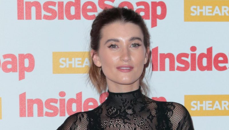 Pregnant Emmerdale star Charley Webb shares a kiss with son Bowie in sweet Instagram pic