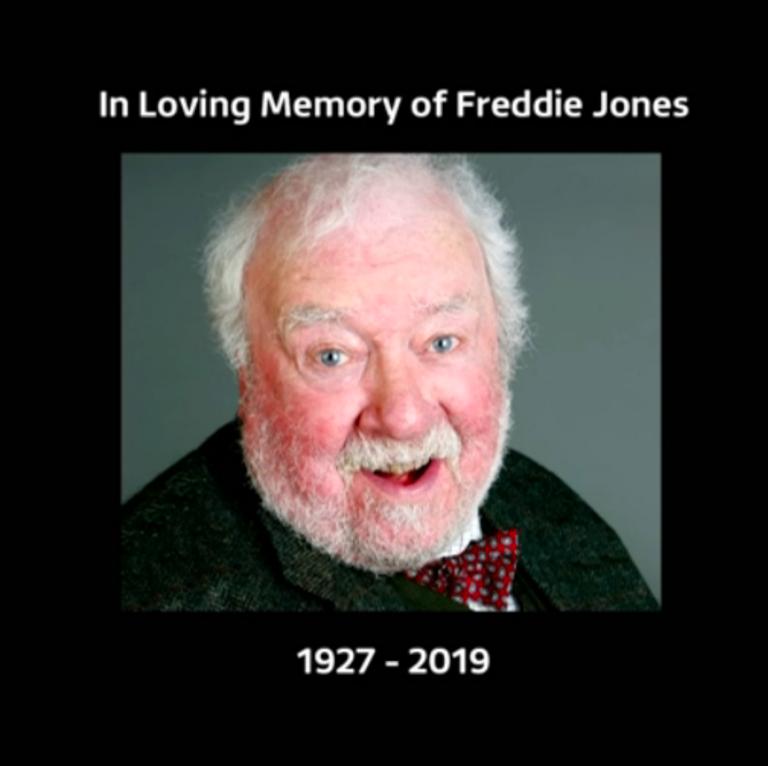 Emmerdale dedicates episode to Freddie Jones, days after his death