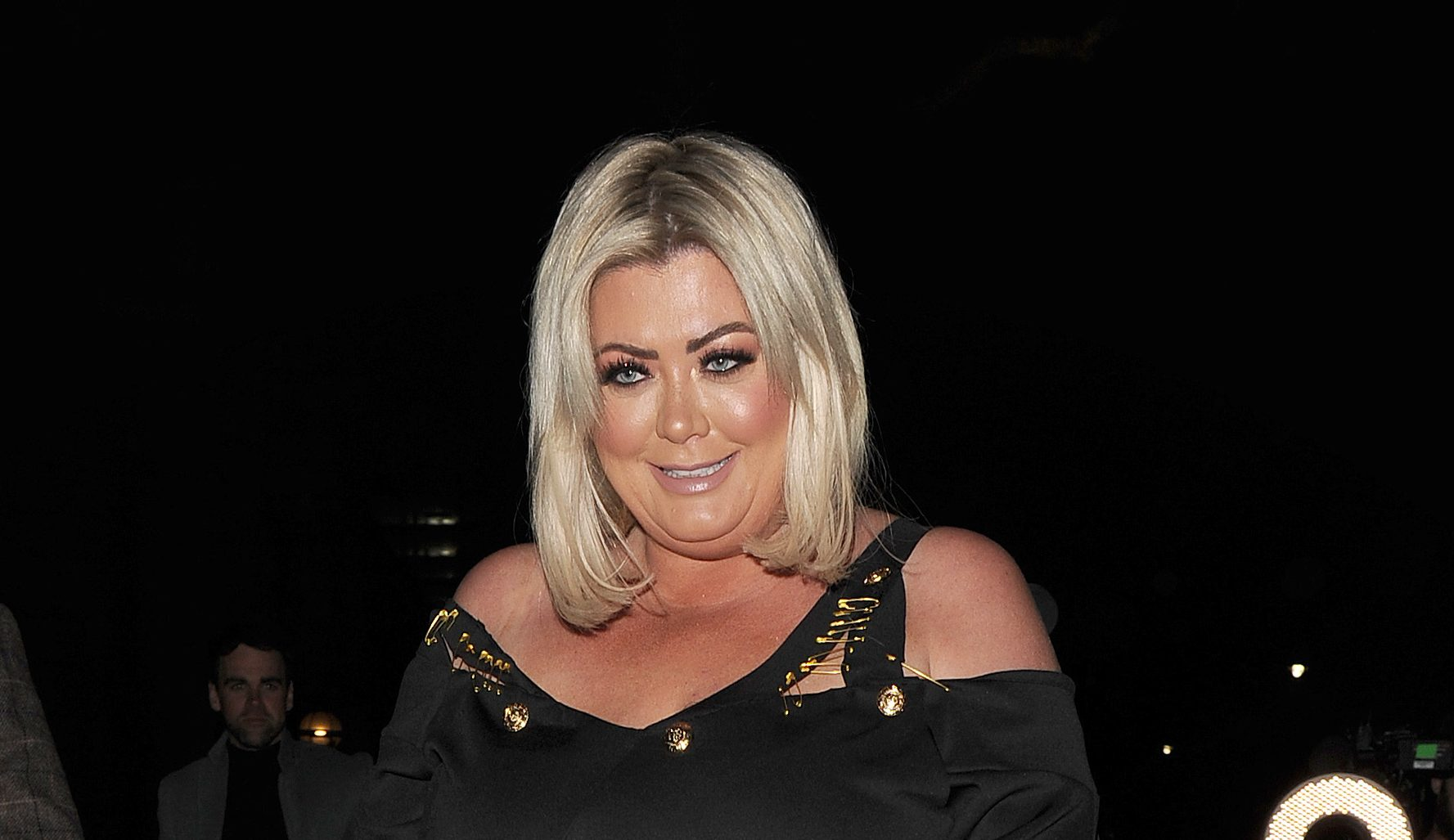 Gemma Collins showcases curves in red swimsuit