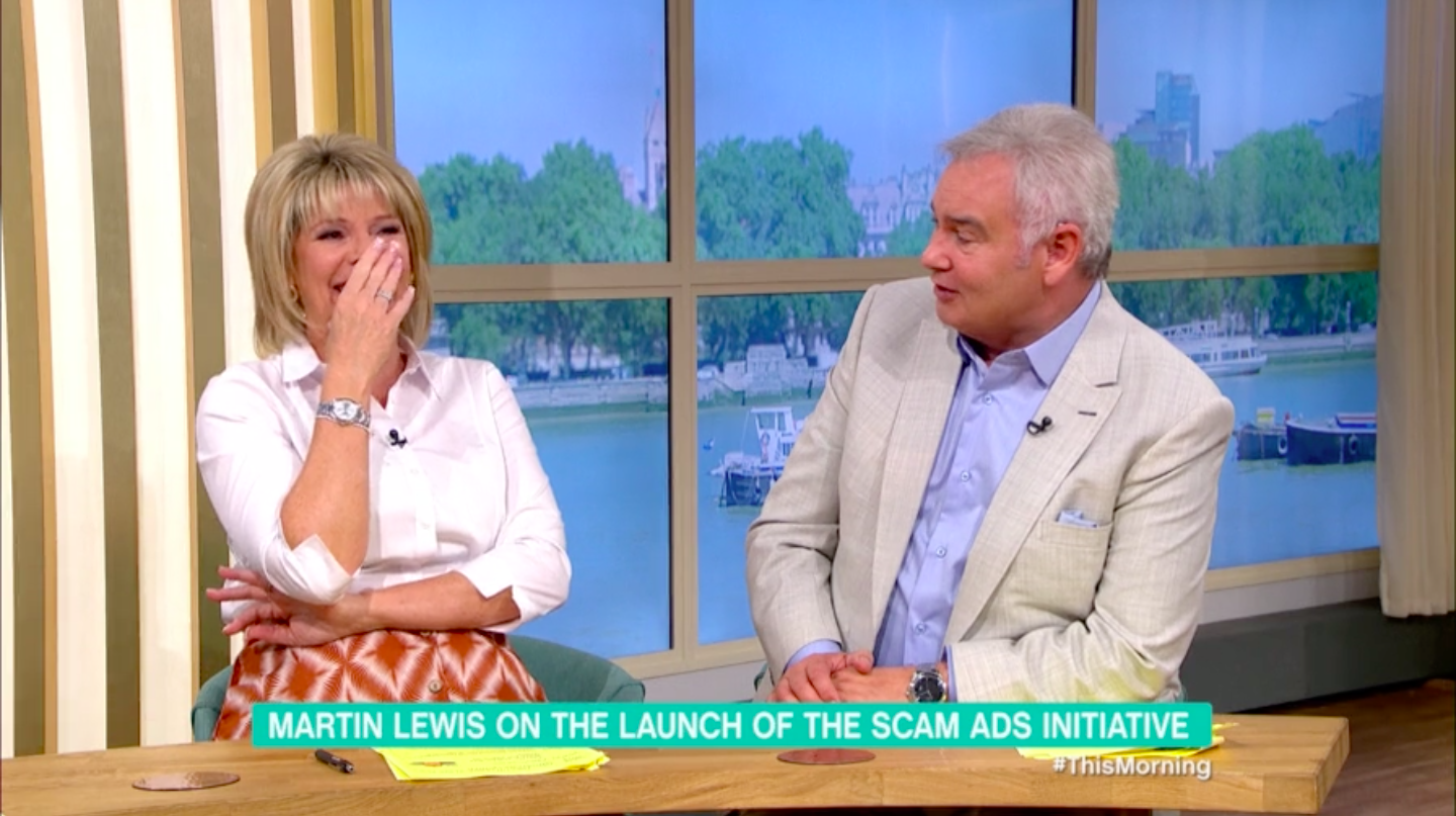 Ruth Langsford in hysterics as Eamonn Holmes reveals he's become face of erectile dysfunction pills scam