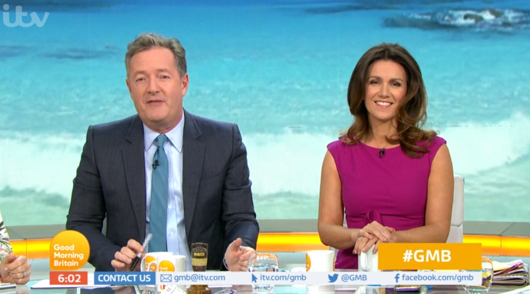 GMB fans gutted as Piers Morgan and Susanna Reid go on summer break