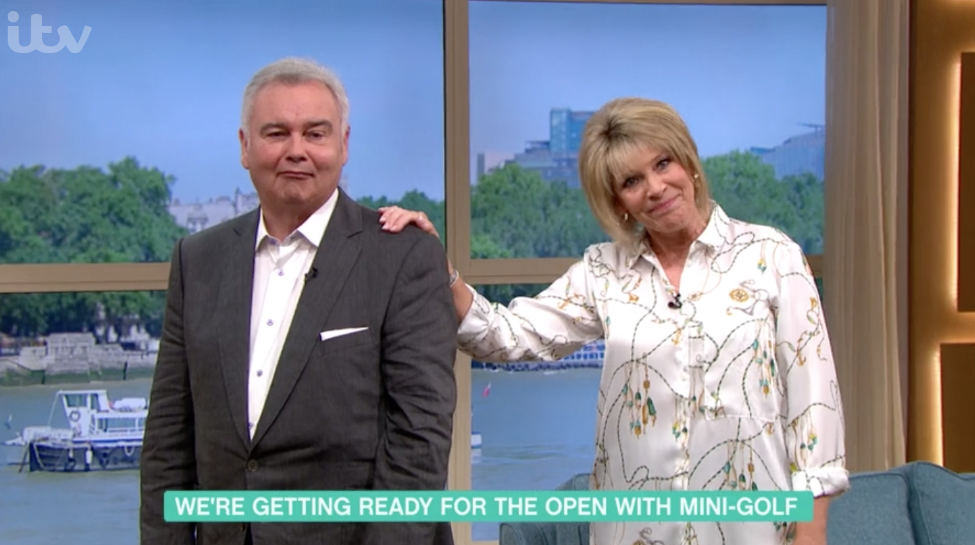 This Morning's Eamonn Holmes responds to fan who criticised his suit/pumps combo