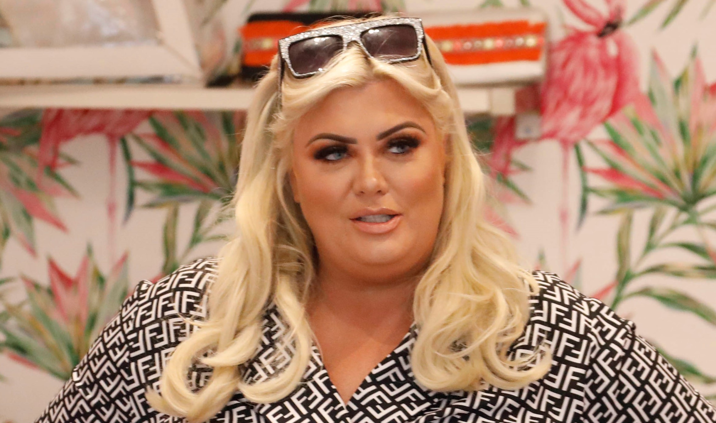 Gemma Collins flashes bum as she dances in thong swimsuit