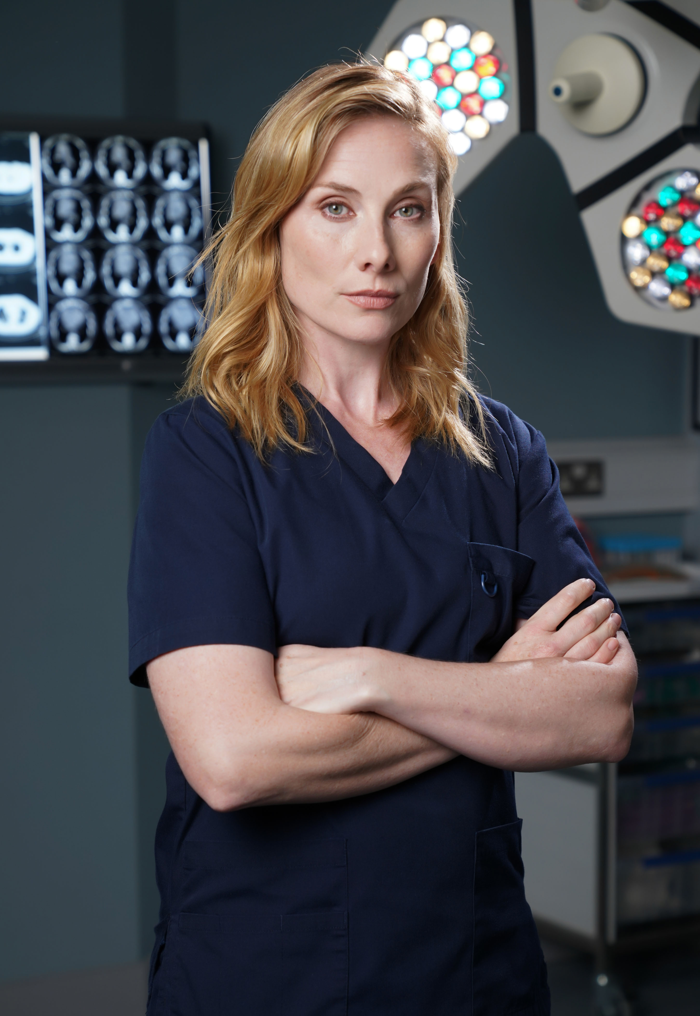 Programme Name: Holby City - TX: n/a - Episode: Generics (No. Generics) - Picture Shows: Jac Naylor (ROSIE MARCEL) - (C) BBC - Photographer: Kieron McCarron