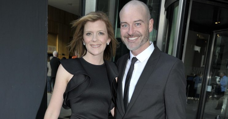 Stars are seen arriving at the Hilton Hotel for the Twinkle Ball in Manchester, UK. The event, which was hosted by Paddy and Christine McGuiness, is in support of Autism Awareness Month. WORLDWIDE RIGHTS Pictured: Jane Danson,Robert Beck Ref: SPL4190285 290418 NON-EXCLUSIVE Picture by: Aaron Parfitt / Flynet - SplashNews / SplashNews.com Splash News and Pictures Los Angeles: 310-821-2666 New York: 212-619-2666 London: 0207 644 7656 Milan: +39 02 56567623 photodesk@splashnews.com World Rights