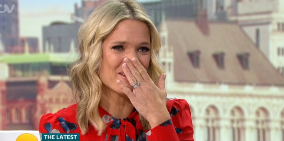 Charlotte Hawkins in tears as she meets GMB guest with disease her father died from