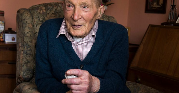 Alf Smith pictured on his 109th birthday