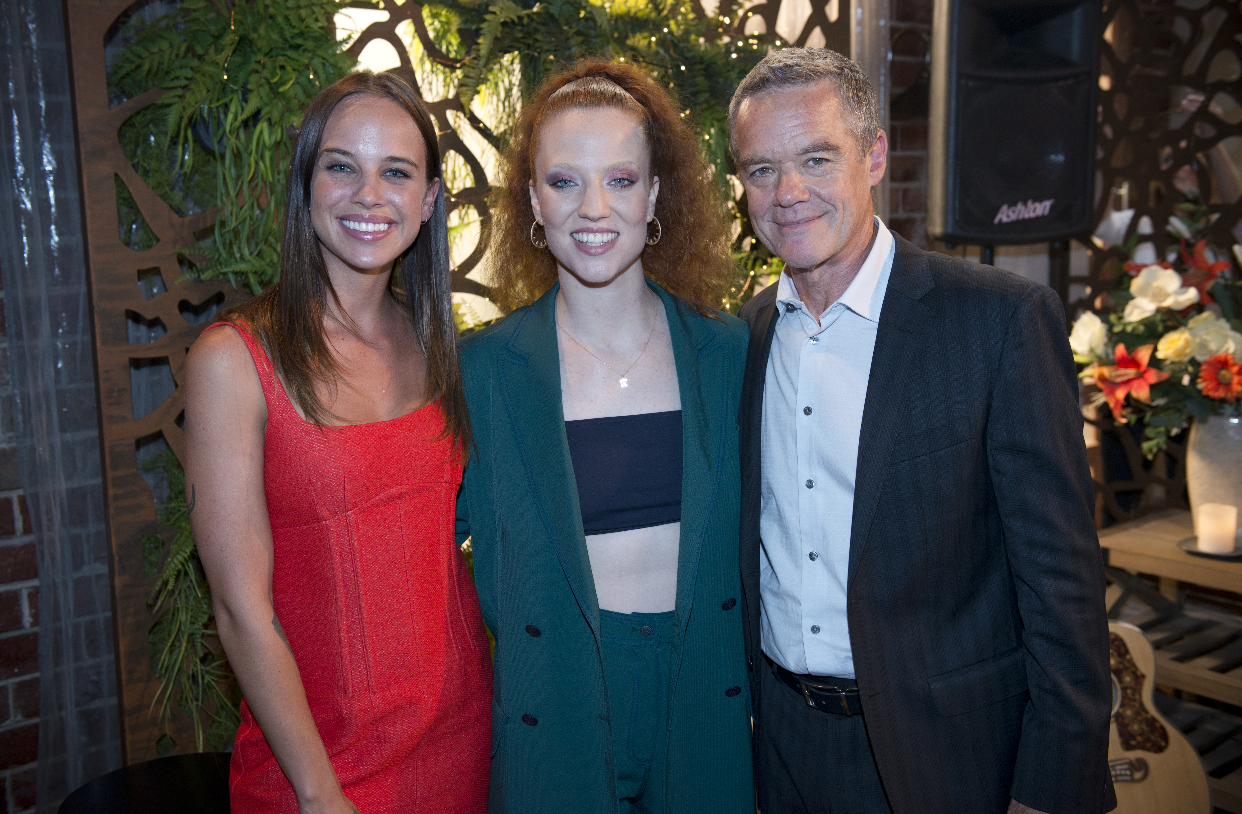 8166 10 - Jess Glynne on Neighbours with Bonnie Anderson and Stefan Dennis Credit: Channel 5