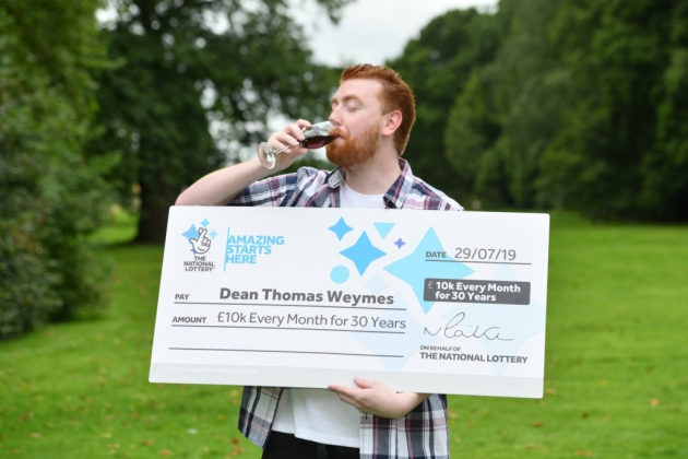 Man, 24, wins £10,000 per month for next 30 years