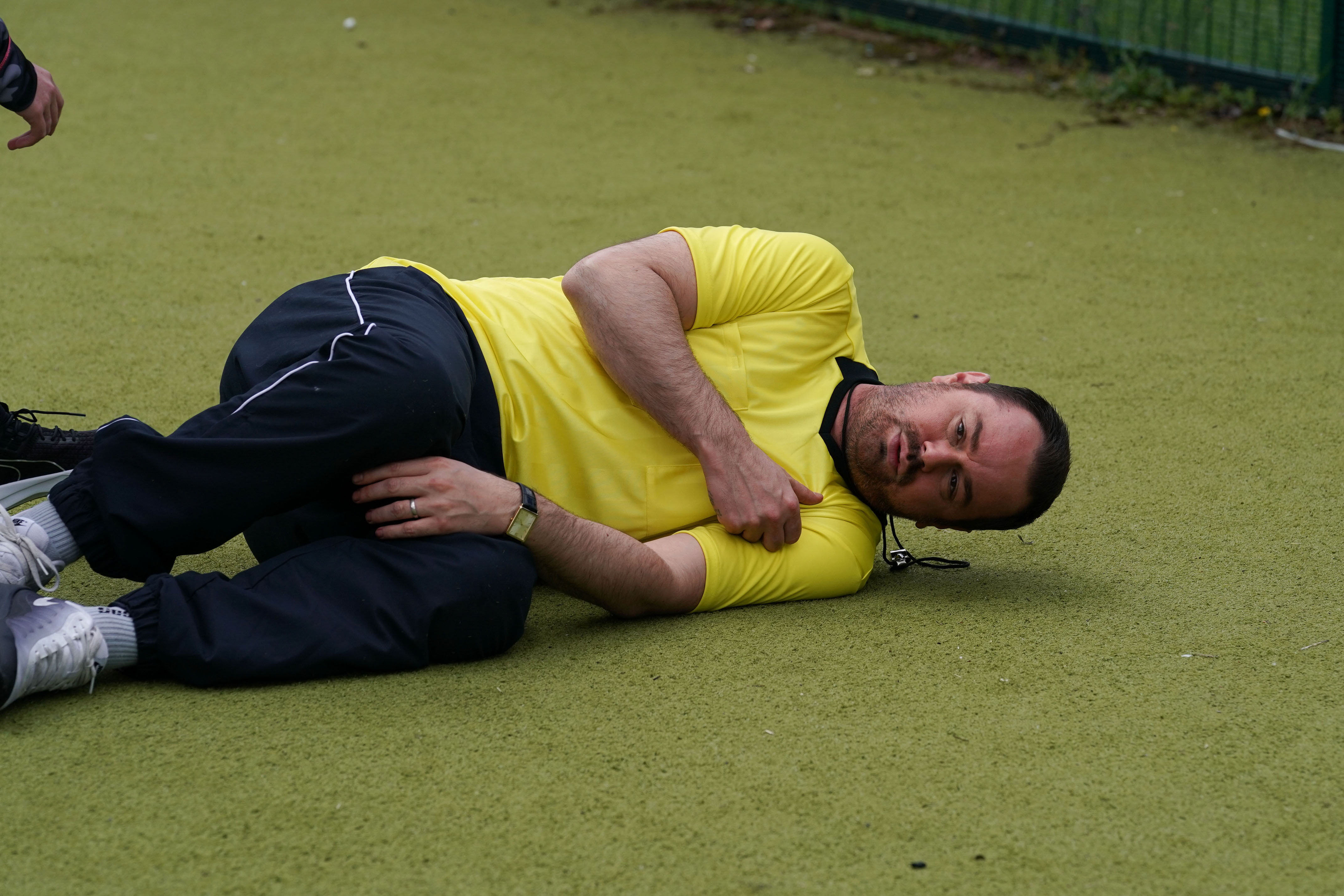 EastEnders SPOILER: Mick collapses on the football pitch