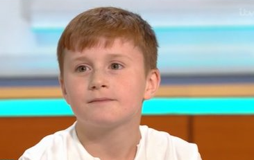 GMB viewers melt as young Mo Salah fan who broke his nose chasing the footballer gets to meet his hero