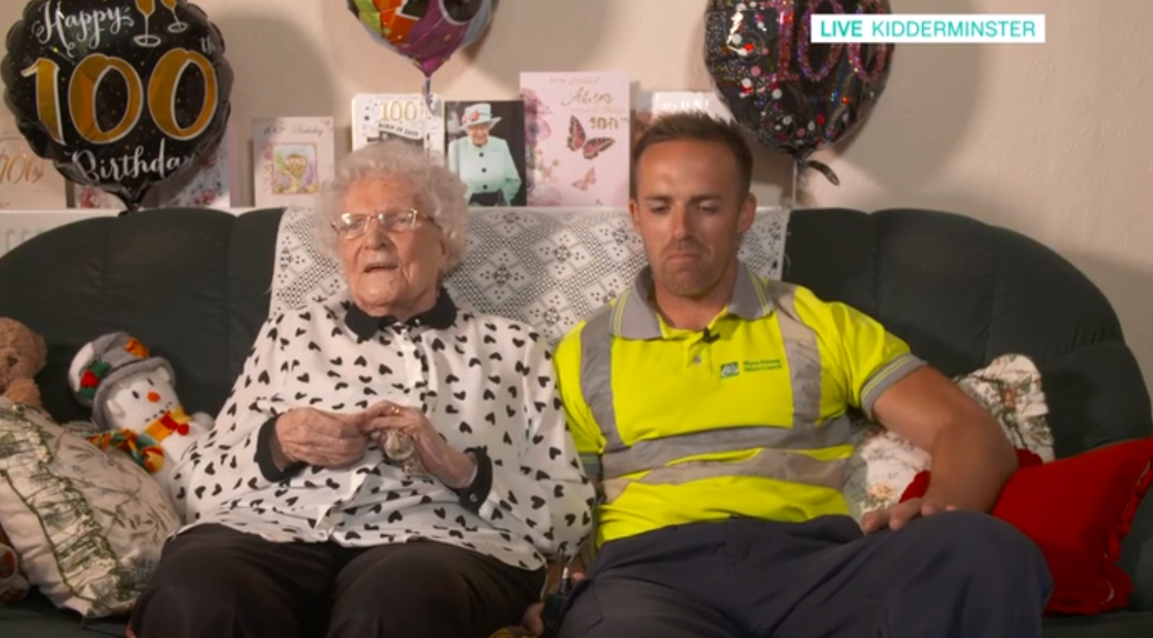 This Morning fans in tears over binman's friendship with 100-year-old grandmother