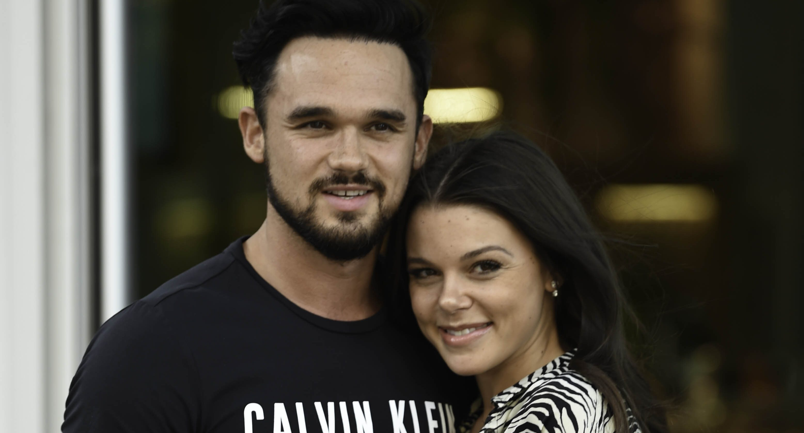 Gareth Gates vows he 'won't give up on us' while ex Faye Brookes enjoys a girlie night out