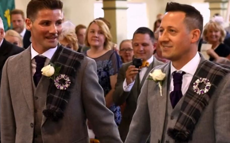 bbc s songs of praise features first same sex marriage