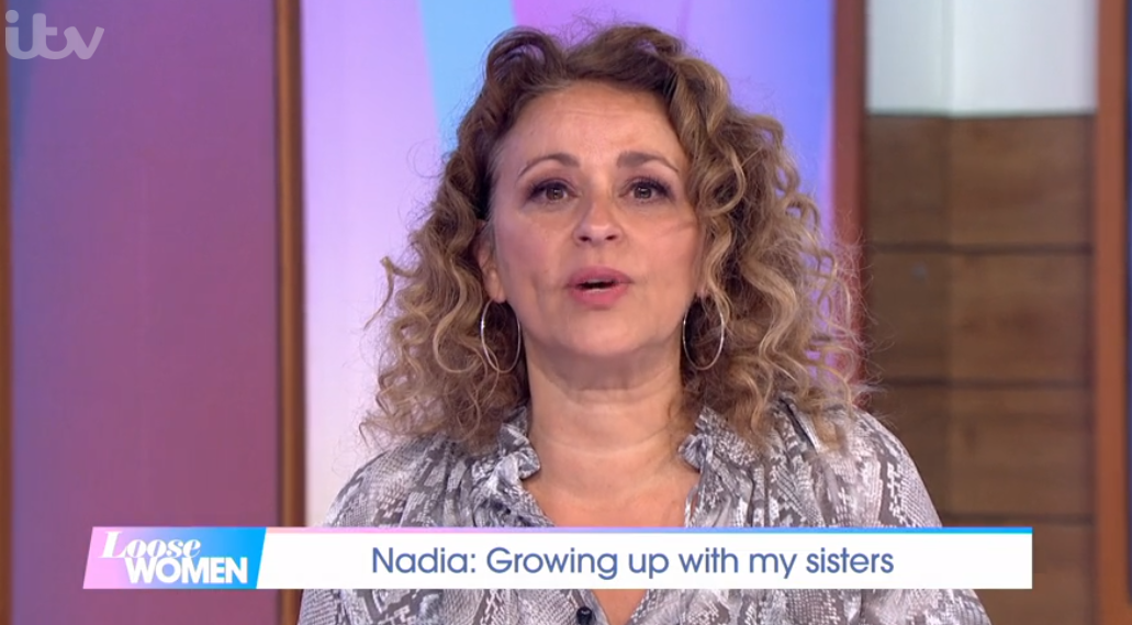 Nadia Sawalha chokes up over 'volatile' relationship with sister