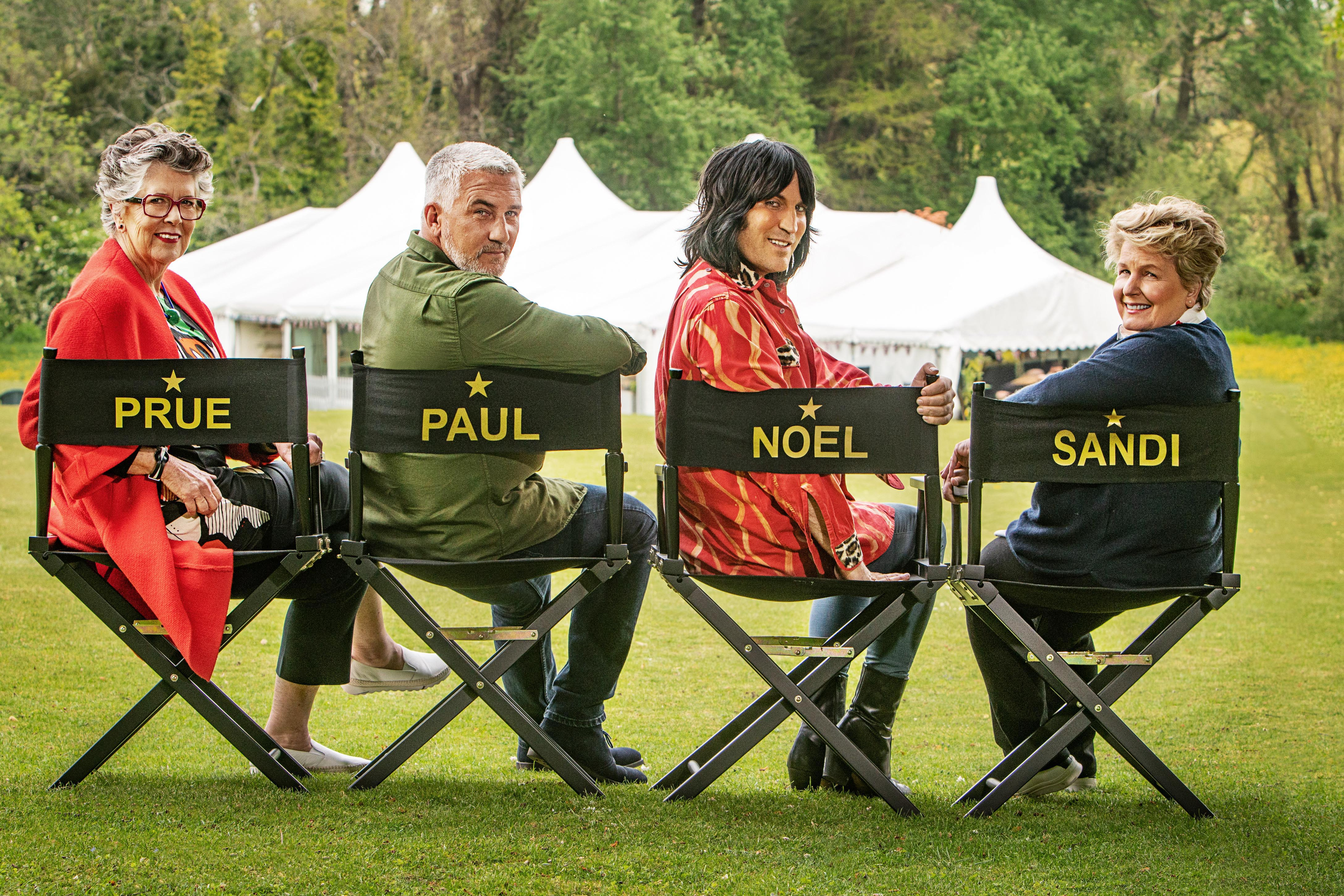 Noel Fielding, Prue Leith and Paul Hollywood will stay on The Great British Bake Off
