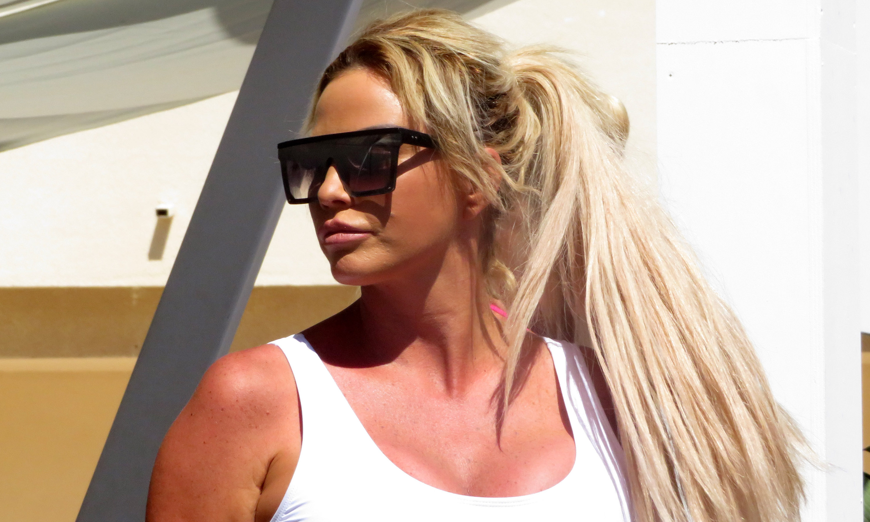 Katie Price 'admits she fears she's going bald' through stress and dieting