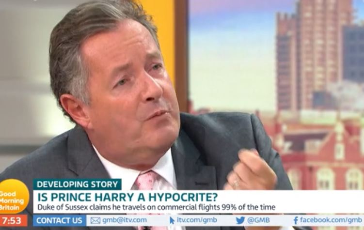 Piers Morgan delivers Prince Harry ultimatum after private jet controversy