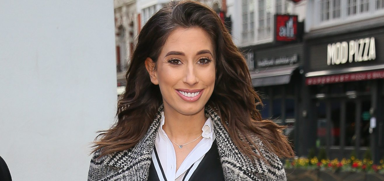 Stacey Solomon shares selfie with Rex before heading off to work