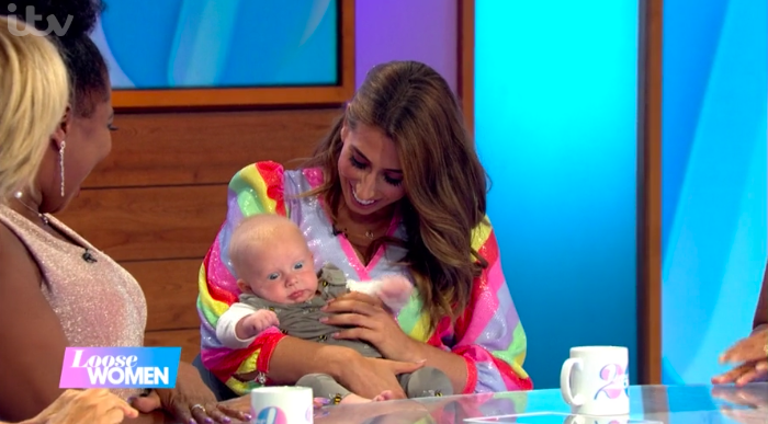 Loose Women fans gush as Stacey Solomon brings baby Rex to work