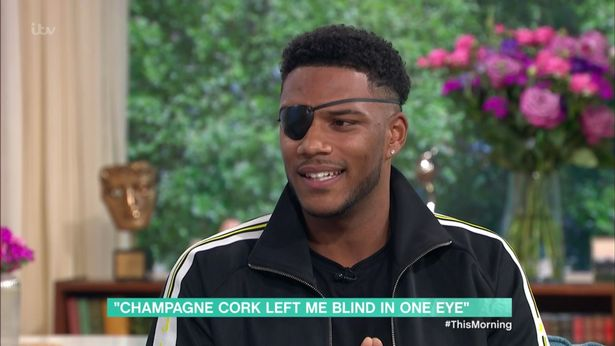Love Island's Theo Campbell reveals eye diagnosis after freak accident