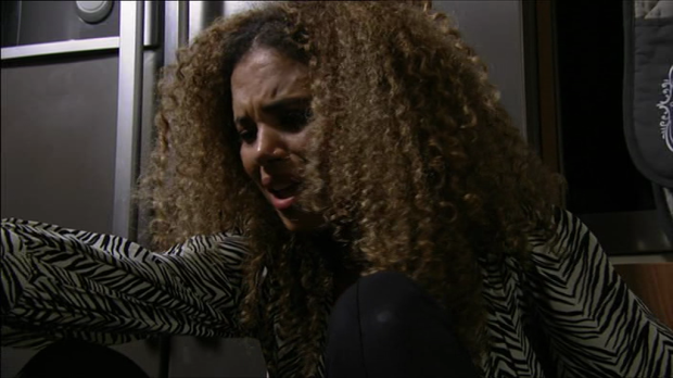 Chantelle punched pregnant EastEnders