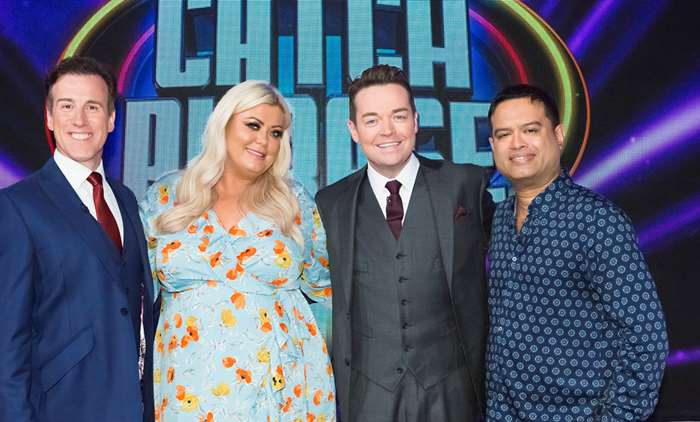 Gemma Collins, Anton DuBeke and Paul Sinha on Celebrity Catchphrase