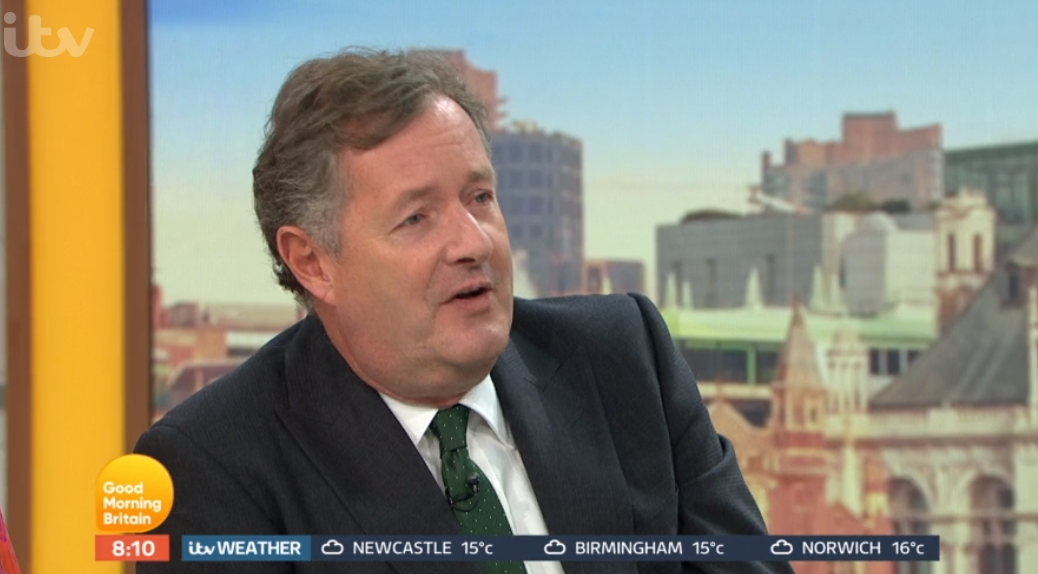 Piers Morgan apologises and tells off GMB guest for swearing live on air