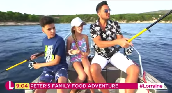 Peter Andre's kids mortified by his dad jokes as family films Lorraine segment