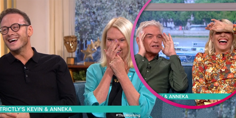 Phil Schofield jokes Strictly 'curse' has already hit couple after awkward moment on This Morning