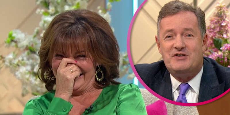 Lorraine Kelly left red-faced as Piers Morgan shares naked photo of her live on air
