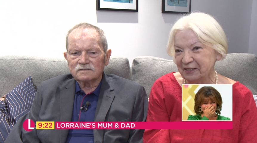 Lorraine Kelly's parents
