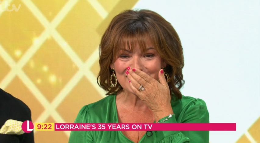 Lorraine Kelly wells up as her parents surprise her with touching message on air