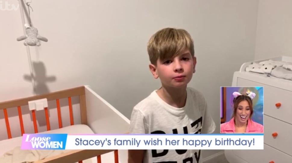 Stacey Solomon's son