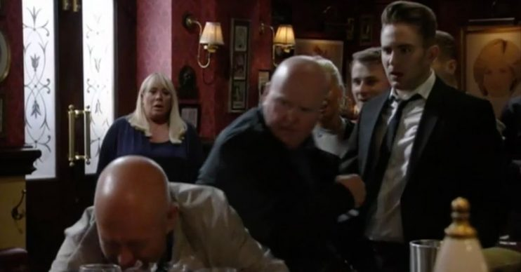 Phil punch Jonno EastEnders