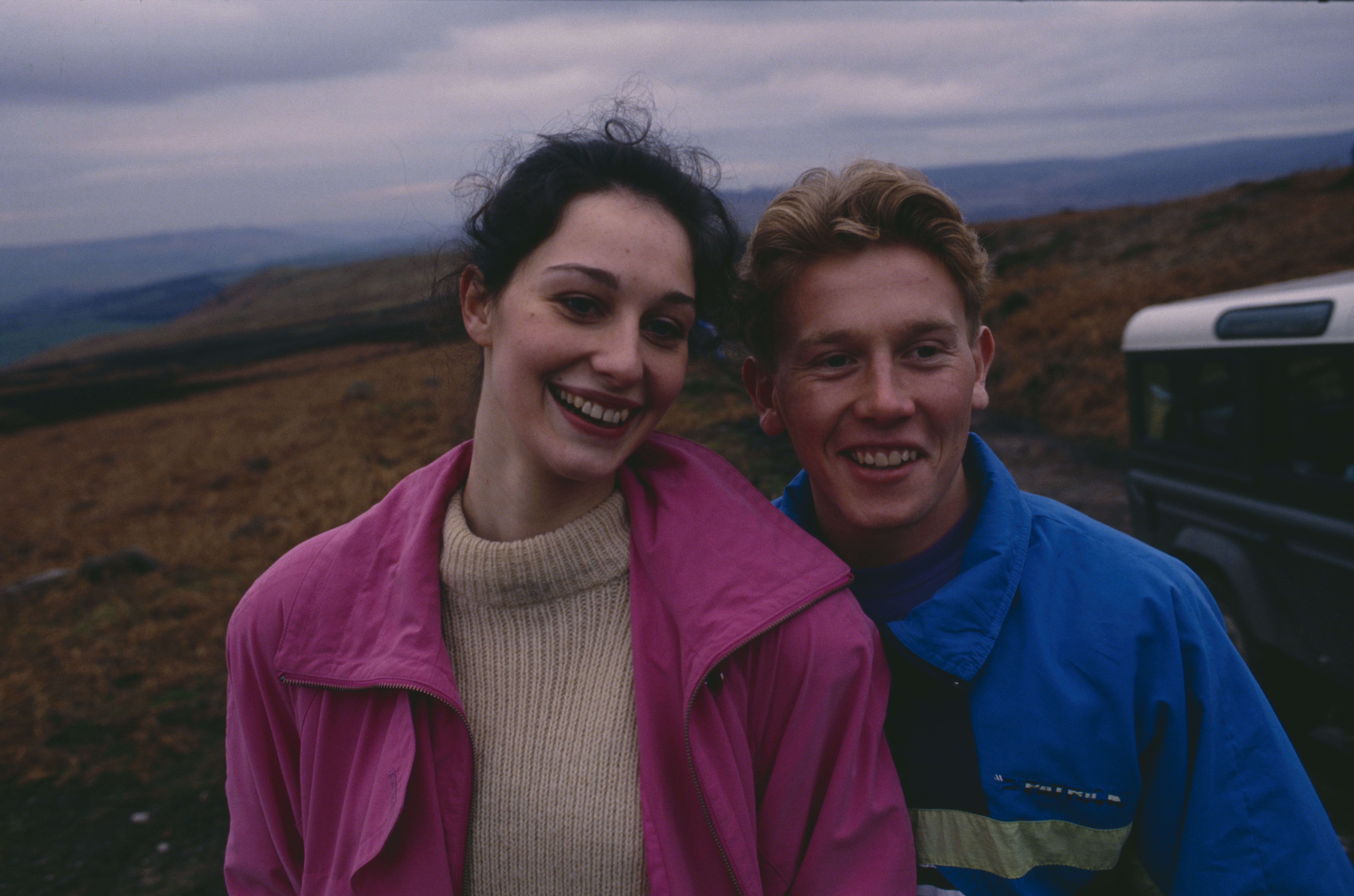 Editorial use only Mandatory Credit: Photo by ITV/Shutterstock (8081371c) Rebekah Joy Gilgan (as Debbie Buttershaw) and Craig McKay (as Mark Hughes) on a fell run (Ep 1755 - 13th April 1993) 'Emmerdale' TV Series - 13 Apr 1993 Emmerdale Farm is a long-running British soap opera set in Emmerdale, a fictional village in the Yorkshire Dales. Created by Kevin Laffan, it first broadcast on 16 October 1972 and produced by ITV Yorkshire.