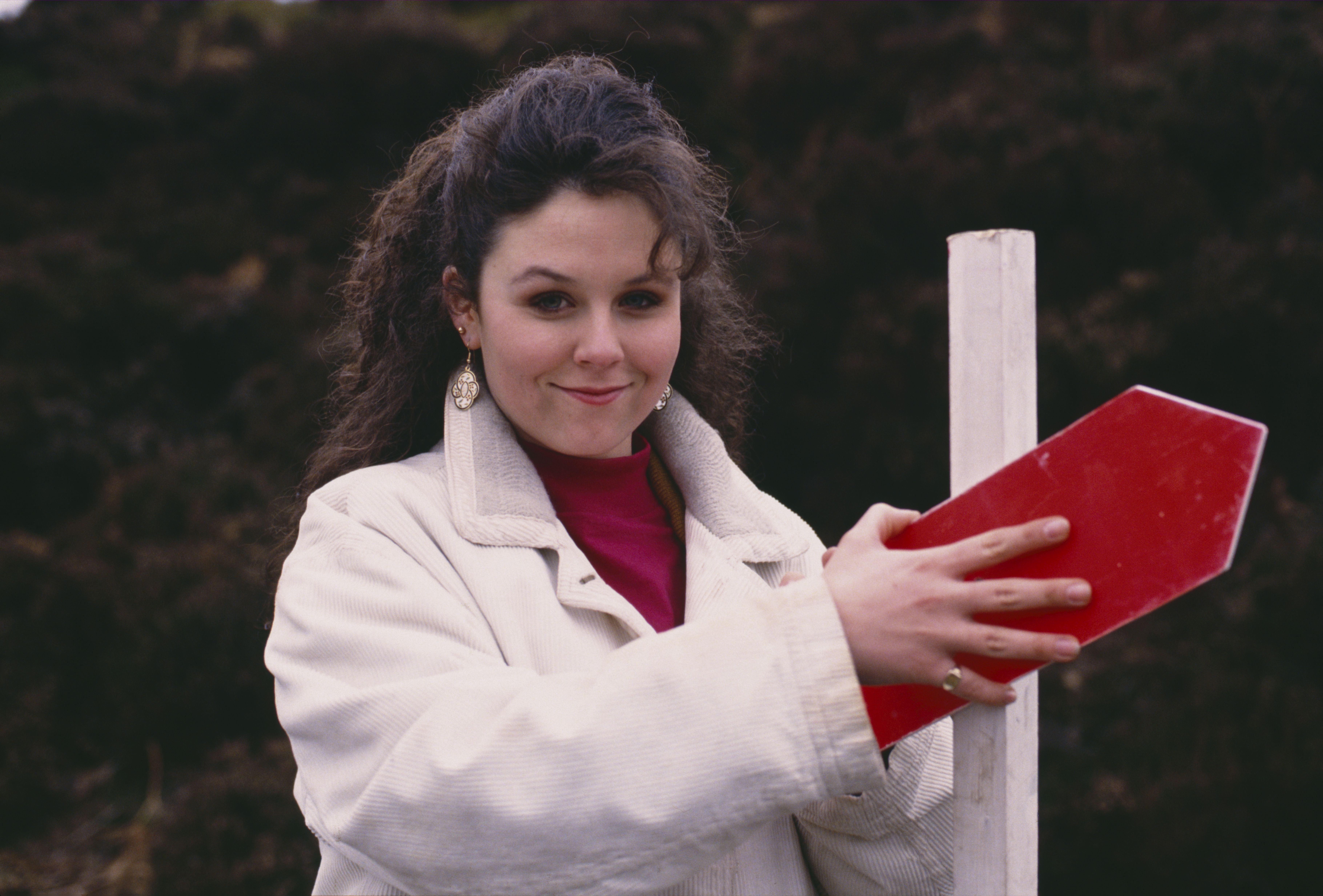 Editorial use only Mandatory Credit: Photo by ITV/Shutterstock (8081371f) Nicola Strong (as Lorraine Nelson) on a fell run (Ep 1755 - 13th April 1993) 'Emmerdale' TV Series - 13 Apr 1993 Emmerdale Farm is a long-running British soap opera set in Emmerdale, a fictional village in the Yorkshire Dales. Created by Kevin Laffan, it first broadcast on 16 October 1972 and produced by ITV Yorkshire.