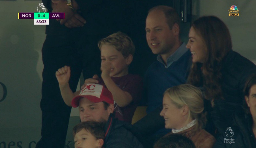 Prince George delights football fans as he attends game with William and Kate