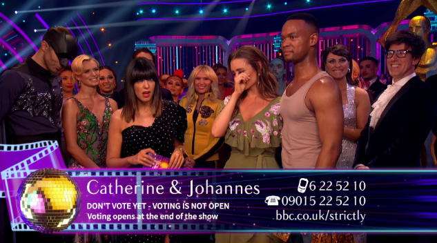 Strictly viewers slate singers during Catherine Tyldesley's number